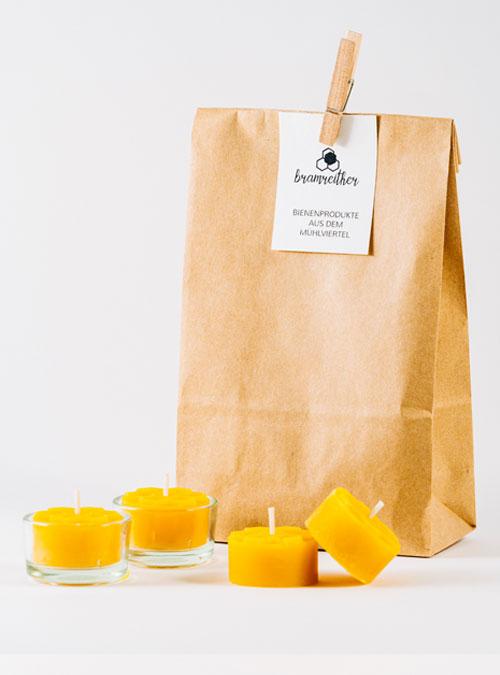 Bio Imkerei Bramreither - Unsere Produkte - Mühlviertel - Bienenwachs Teelichter - regional kaufen
