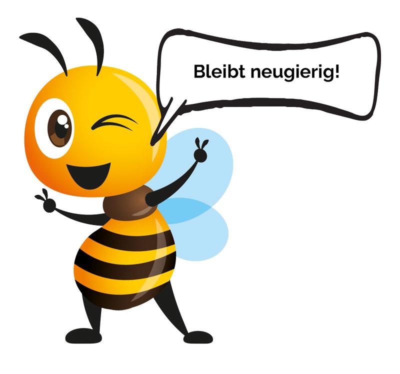 Bio Imkerei Bramreither - Bienenprodukte aus der Region Mühlviertel - Penning - Helfenberg - Rohrbach - bleibt neugierig - Biene Valentine, die fleißige Honigbiene